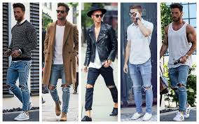 Image result for ripped jeans for men