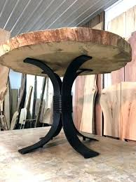metal end table base dining table base steel pedestal legs powder metal round dining table base