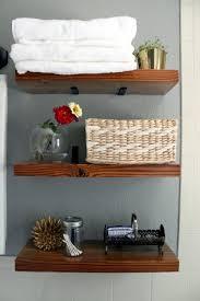 diy bathroom wall storage. floating bathroom shelves (via turningithome) diy wall storage u