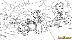 LEGO Back to the Future at 88 MPH! Coloring Page, Printable Sheet ...