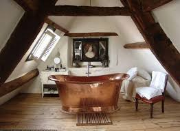 Bathroom:Old Fashioned Attic Bathroom Design With Gold Free Standing  Bathtub Ideas Awesome Attic Bathroom