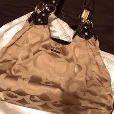 Coach signature hobo style bag