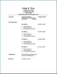 ... Resume Basic Format 8 Basic Resume Templates Download ...