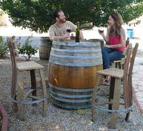 used wine barrel furniture. fine barrel we are your source in los angeles for vintage used wine and whiskey barrel  patio furniture if you donu0027t see it here please call 8185238174 to discuss  with used wine barrel furniture