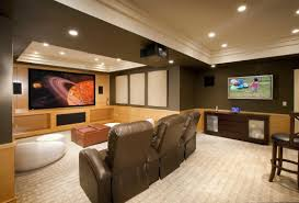 Home Accecories:Decor Tips Tray Ceilings And Interior Paint Color With  Recliner Inside Houzz Basement