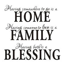 Home Family Blessing English Quote Saying Art Decal Wall Sticker Stunning English Inspiration