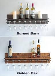 wall mounted wine glass rack. Rustic Wood Wine Rack Shelf \u0026 Hanging Glass Stemware Holder Wall Mounted O