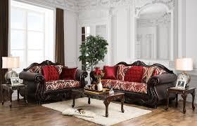 Upholstered Living Room Sets Wilford Burgundy Upholstered Living Room Set Sm6307 Sf Furniture