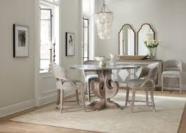 zinc dining room table. Hooker Furniture Boheme Ascension 60in Zinc Round Dining Table 5750-75213-SLV Room