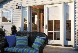 doors with built in blinds