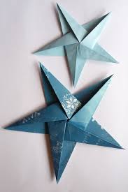 Learn to make a folded paper Christmas tree and an origami star - simple,  quick and effective decorations for Christmas!
