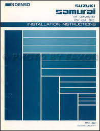 1986 1987 suzuki samurai a c installation instructions original