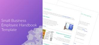 Sample Employee Handbooks Small Business Employee Handbook Template Human Interest