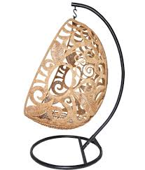 hand woven hanging egg swing with stand by jo lisa