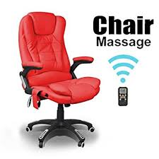 red leather office chair. RIO RED RECLINING MASSAGE LEATHER OFFICE CHAIR W 6 POINT HIGH BACK COMPUTER DESK 360 SWIVEL: Amazon.co.uk: Kitchen \u0026 Home Red Leather Office Chair I