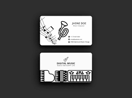 business card tamplate musician business card template