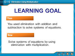 then now you used elimination with addition and subtraction to solve systems of equations