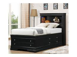 Queen Storage Bed with Bookcase Headboard | Full Bed with Mattress Included  | Wayfair Storage Bed