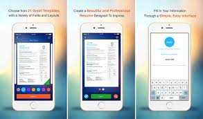 app resume best iphone ipad apps to create your résumé to land the next big job