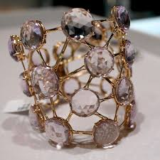 selim mouzannar transparence rose cut amethyst cuff as seen at las vegas couture 2017
