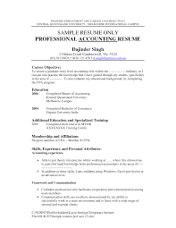 Objective For Accounting Resume Resume For Study