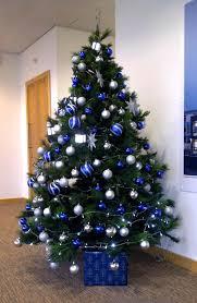 blue & silver christmas tree