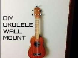 how to make a ukulele wall mount you
