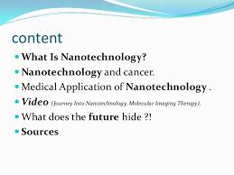 medical applications of nanotech in cancer therapy
