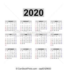 One Sheet Calendar 2020 Calendar 2020