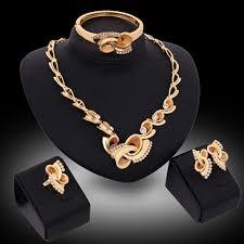 aureate bowknot four piece jewelry set