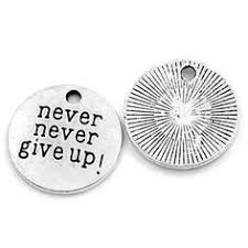 charms 10 antique silver never never give up sted charms inspirational pendants