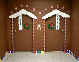 Twin ginger bread house christmas door