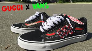 gucci vans. custom gucci vans with the snakes on em! x collab + feet gucci vans i