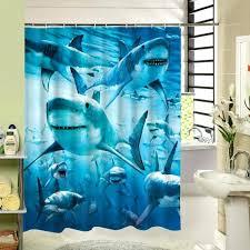 new stylish submarine world shark shower curtain waterproof polyester fabric bathroom curtain shark week shower curtain
