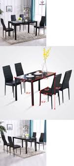 dining sets 107578 5 piece dining table set 4 chairs gl metal kitchen room breakfast furniture it now only 24 on ebay
