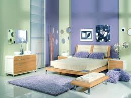 Good Color Combination With Purple Accent Wall And Modern Furniture For  Chic Bedroom Ideas