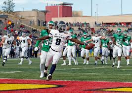 utah state running back gerold bright 8 scores a touchdown ahead of north texas