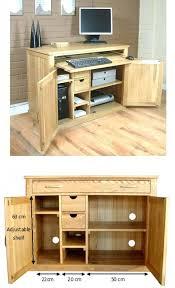 home office desk armoire. Home Office Furniture Oak Armoires Desk Armoire Hidden Decoration M
