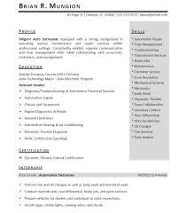 Template Summer Internship Resume Template Engineering Sam Summer