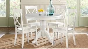 white round dining table set brynwood white 5 pc round dining set dining room mnyodgl
