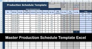Production Scheduling In Excel Master Production Schedule Template Excel Microsoft