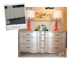 silver painted furniture. Spray Paint Bedroom Furniture Best Of Silver French Provincial Dresser Before And After What Not To Do Painted
