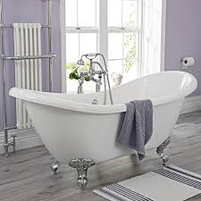milano double ended slipper freestanding bath 1750 x 730mm with choice of feet