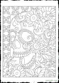 Free Printable Day Dead Coloring Pages Day Of The Dead Coloring