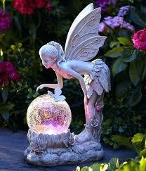 solar globe garden lights solar garden fairy lights solar light globe fairy statue color changing angel