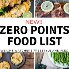 New Weight Watchers Zero Points Food List Freestyle Plan