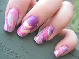 Water Marble Nails Art Designs Trends | Trends4us.Com