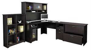 bush furniture l shaped desk and hutch with lateral file and bookcase bush desk hutch office