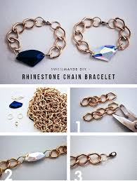 make a chunky rhinestone bracelet 32 diy prom accessories that will make you the coolest kid in school