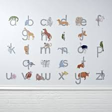 ... Marvelous Kids Room Decals Personalized Name Wall Decals For Nursery  With Alphabeth And Animals ...